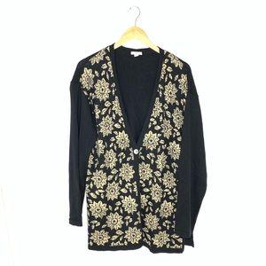 J. Jill Black & Tan Sweater